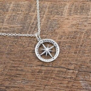 Jewelry - Sterling Silver Compass Necklace